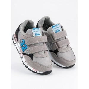 Dětská sportovní obuv pro kluky šedé barvy