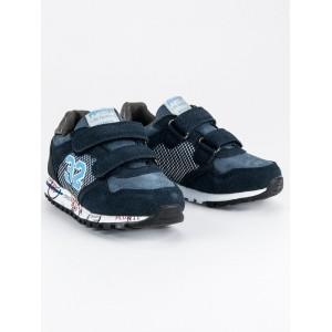 Tmavě modre dětské sportovní boty