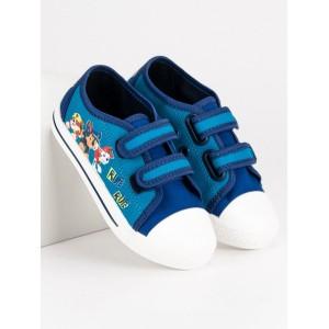 Modré dětské plátěné boty Paw patrol