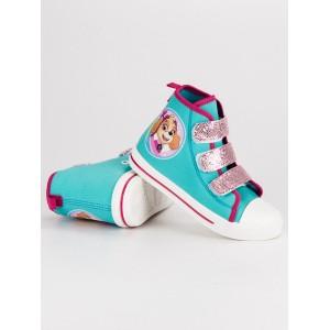 Dětská kotníčková obuv tyrkysové barvy Paw patrol