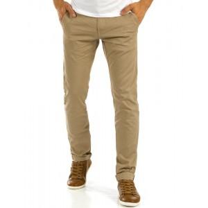 Béžové pánské letní dlouhé kalhoty