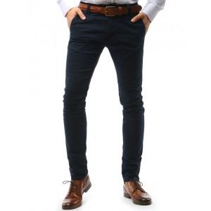 Elegantní pánské chino kalhoty tmavě modré barvy
