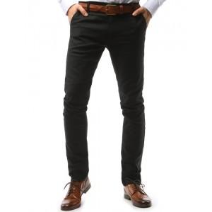 Černé pánské kalhoty chino