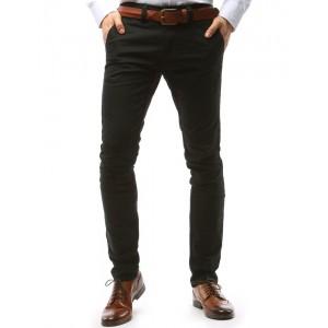 Černé elegantní pánské kalhoty ve střihu chino