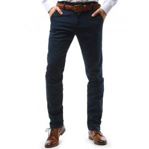 Tmavě modré pánské chino kalhoty společenské