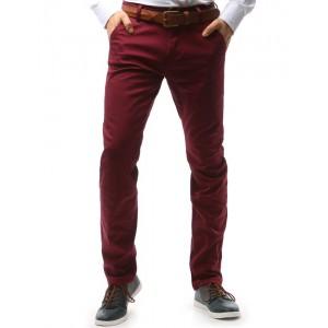 Pánské chino bordové kalhoty