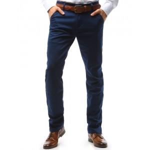Chino tmavomodré pánské kalhoty elegantní