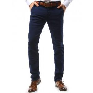 Pánské elegantní chino kalhoty v tmavěmodré barvě