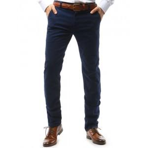 Elegantní chino kalhoty ve výrazně tmavěmodré barvě
