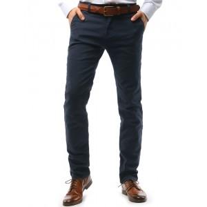 Tmavě šedé pánské kalhoty chino