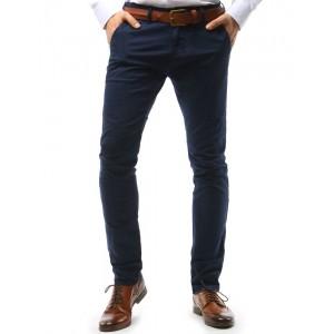 Pánské kalhoty elegantní ve výrazné tmavě modré barvě