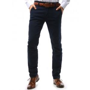 Moderní chino pánské kalhoty výrazné tmavěmodré barvy