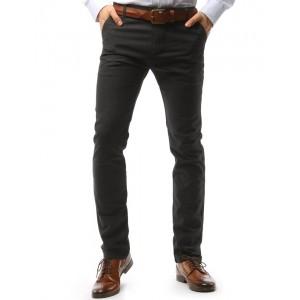 Pohodlné pánské šedé kalhoty s kapsami