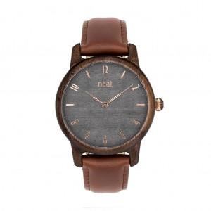 Náramkové dřevěné dámské hodinky v šedé barvě
