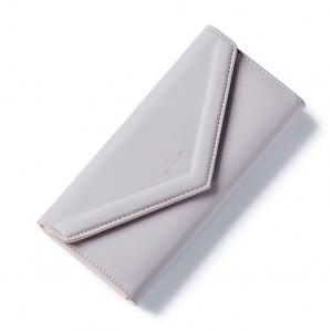 Šedá velká stylová peněženka
