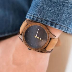 Moderní dřevěné náramkové hodinky pro pány