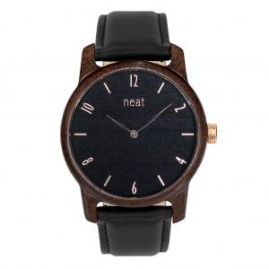 Pánské elegantní černé hodinky ze dřeva