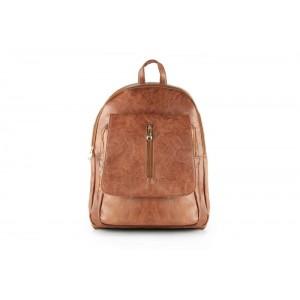 Koženkový batoh hnědé barvy dámský
