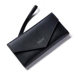 Dámská elegantní měkká peněženka černá