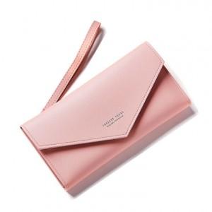 Dámská měkká elegantní peněženka růžové barvy