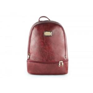 Bordový batoh s jednou hlavní a jednou vedlejší kapsou