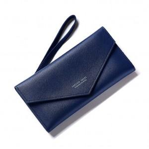 Dámská tmavomodrá elegantní peněženka měkká