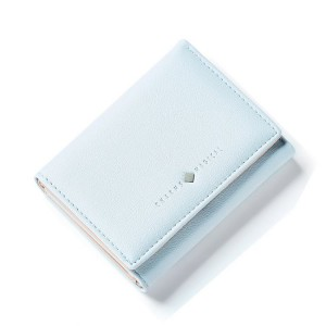 Světlemodrá dámská malá peněženka dolárovka