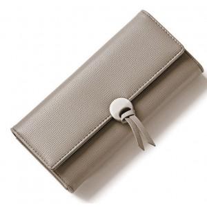 Dámská peněženka dámská šedé barvy s ozdobnou přezkou