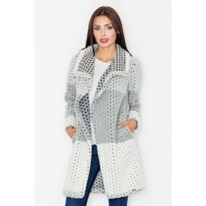 Šedý pletený kabát pro dámy