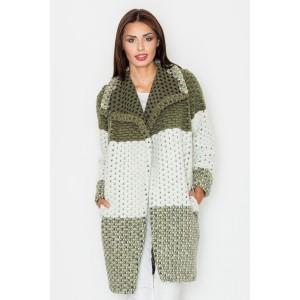 Dámský olivově zelený jarní kabát