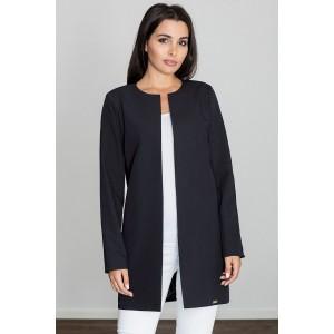 Elegantní dámský kabátek černé barvy na jaro
