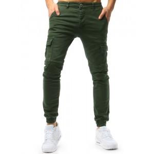 Zelené pánské rifle s kapsami