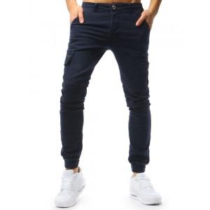 Stylové pánské riflové kalhoty modré barvy