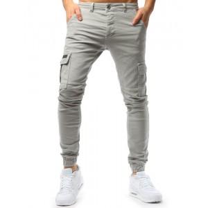 Béžové pánské džíny se zúženým zakončením kalhot