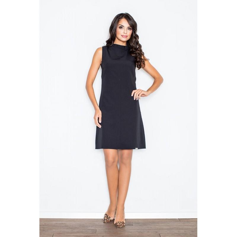 Elegantní dámské černé šaty bez rukávů nad kolena dc1c8a14a2