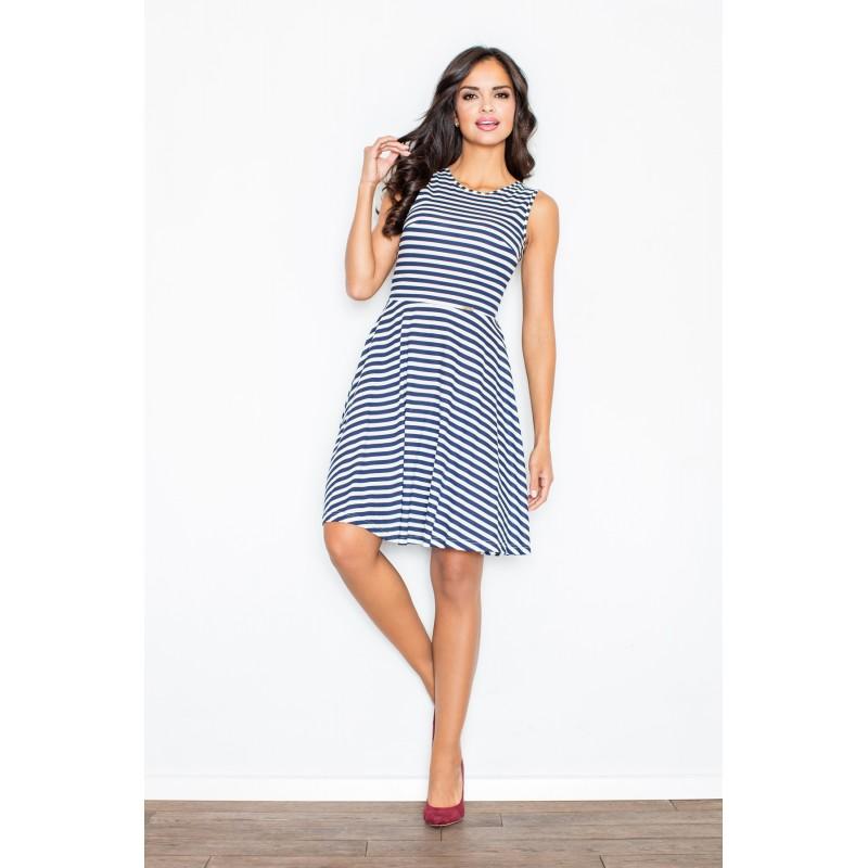 eb6e109c6777 Dámské námořnické šaty s volnou sukní