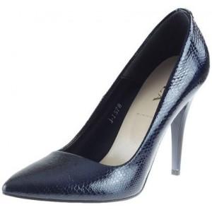 Luxusní dámské lodičky modré barvy s vysokým podpatkem