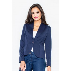 Tmavě modré dámské elegantní sako