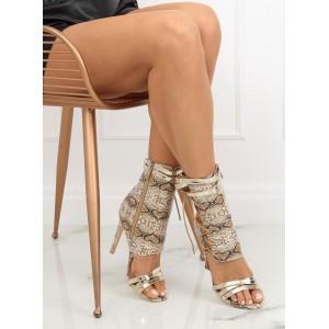 Hadí dámské kotníkové boty v béžové barvě