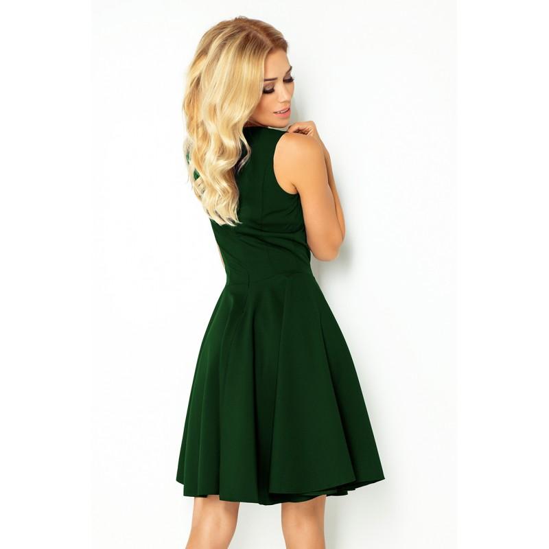 423631887b1 Krátké plesové šaty zelené barvy bez rukávů