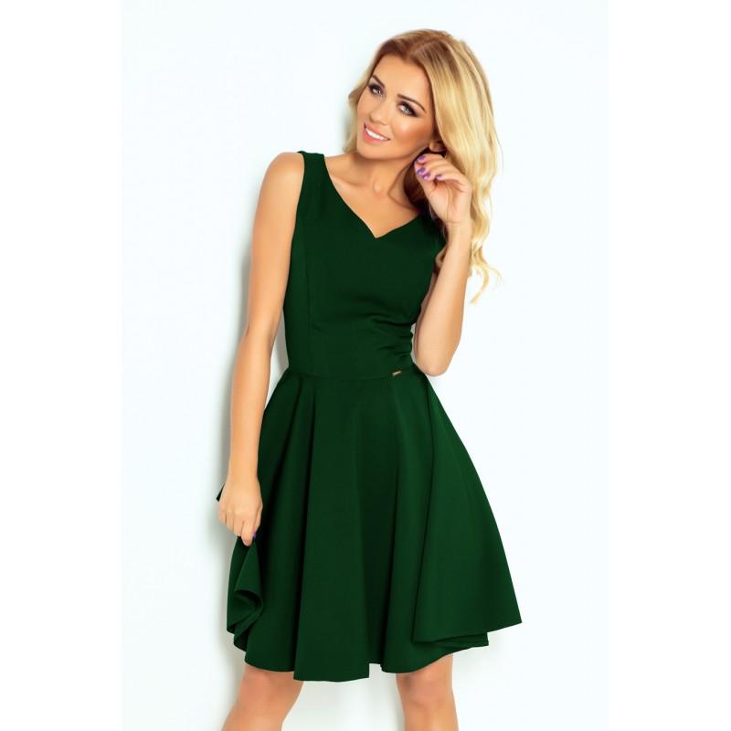 Krátké plesové šaty zelené barvy bez rukávů f10eb9147f