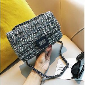 Trendová dámská modrá crossbody kabelka