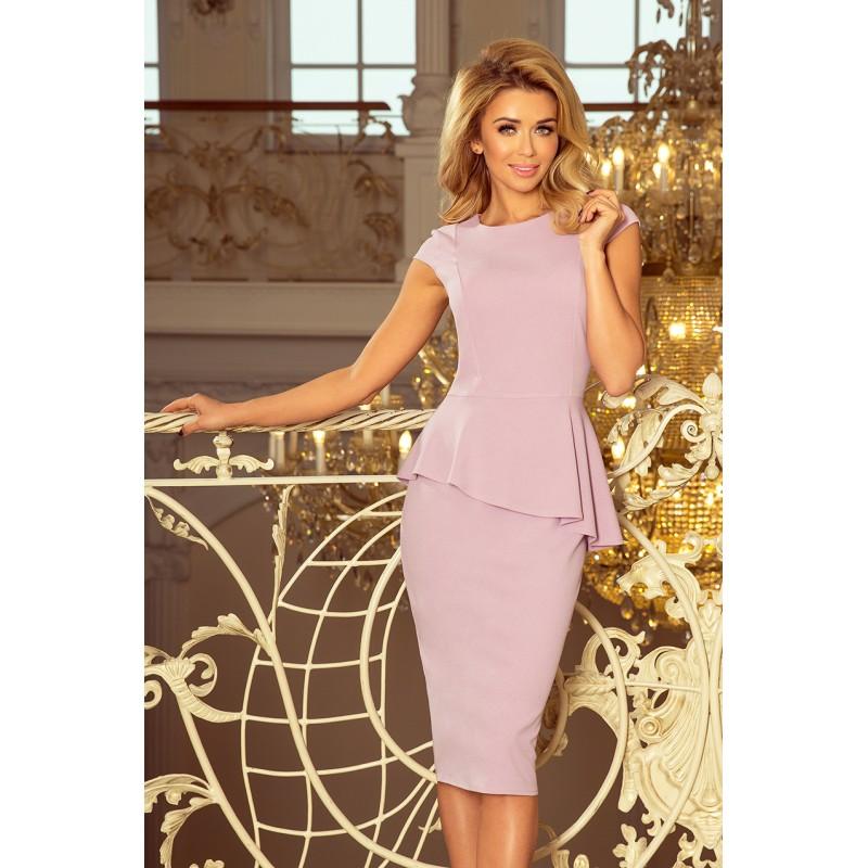 aeb26affb8f4 Krátké společenské šaty světle růžové barvy