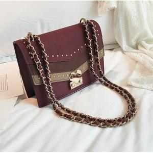 Červená BOHO dámská kabelka přes rameno