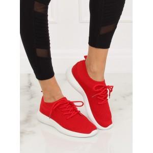 Dámské sportovní tenisky nasouvací se šňůrkami v krásné červené barvě