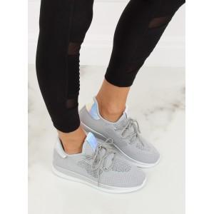 Sportovní dámské šedé tenisky s originálním designem