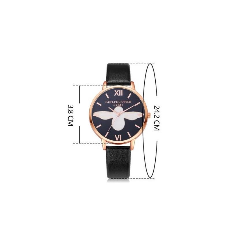 1f5f684201a Elegantní dámské černé hodinky s římskými číslicemi