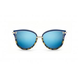 Modře zlaté stylové sluneční brýle dámské