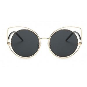 """Sluneční brýle černo zlaté """"kočičí oči"""""""