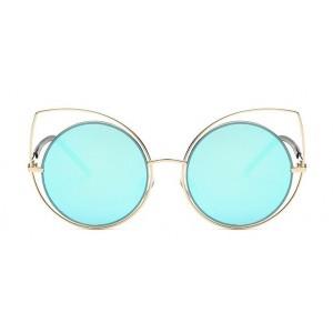 Moderní brýle modré ve tvaru kočičích očí